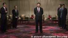 Hongkong Treffen von Xi Jinping und Leung Chun-ying