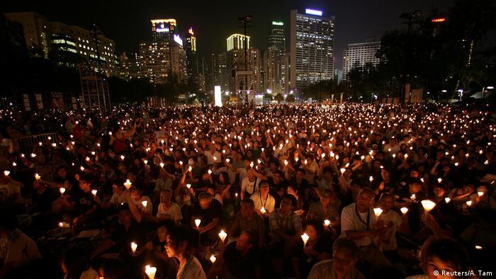 En el vigésimo aniversario de la brutal represión del Gobierno chino en la plaza de Tiananmen.