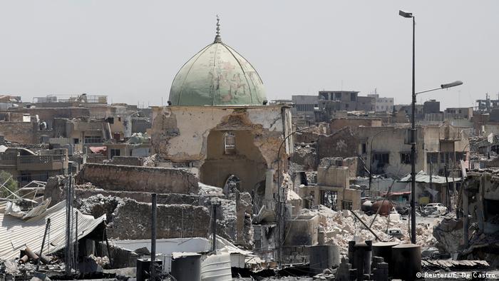 Irak die zerstörte Al-Nuri Mosche in Mossul (Reuters/E. De Castro)