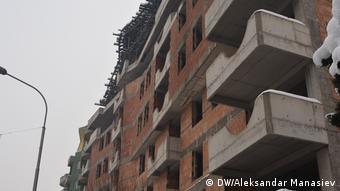 To επίμαχο συγκρότητα πολυκατοικιών «Αντιγόνη» στα Σκόπια