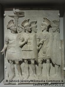 Преторианцы. Фрагмент триумфальной арки в Риме. 51-52 гг. н. э.