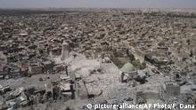 Irak Al Nuri Moschee in Mossul Zerstörung