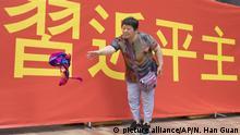 Hongkong - Xi Jinping - Kundgebung
