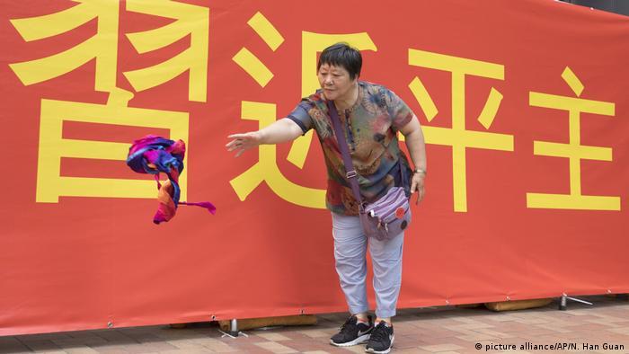 Hongkong - Xi Jinping - Kundgebung (picture alliance/AP/N. Han Guan)