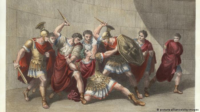 Убийство Калигулы. Гравюра Г. Мокетти. 1810 г.