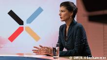 DW Interview Sahra Wagenknecht und Jaafar Abdul-Karim