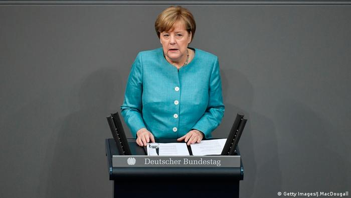 G20 Gipfel Bundestag Angela Merkel (Getty Images/J.MacDougall)