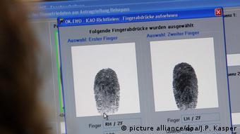 Finger print comparison software