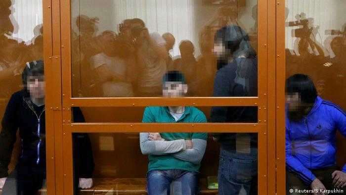 Moskau Eskerkhanov, Shadid Gubashev, Dadayev and Anzor Gubashev, Nemtsov Mord (Reuters/S.Karpukhin)