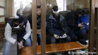 Verdächtige im Fall Nemtsow