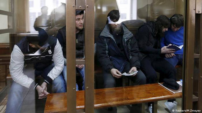 Im Fall Nemtsov beschuldigte Täter (Reuters/M.Zmeyev)