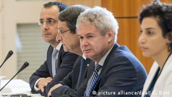 Aπό τις διαπραγμεύσεις για το κυπριακό στο Κραν Μοντανά της Ελβετίας (Φωτογραφία 28.06.2017)