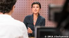 Sahra Wagenknecht im DW Interview Jaafar Abdul-Karim Ines Pohl