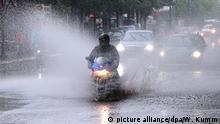 Deutschland Regenband überquert die Hauptstadt