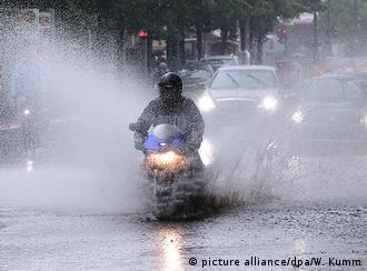 Chuvas intensas caíram sobre Berlim nos últimos dias