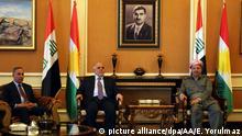 Irak Haidar al-Abadi trifft Masoud Barzani in Erbil