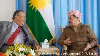 Irak Treffen von Jalal Talabani und Massoud Barzani (picture-alliance/dpa/mxppp/C. P. Tesson)