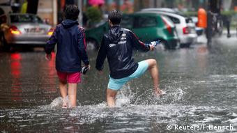 Regen sorgt für Überflutungen in Berlin