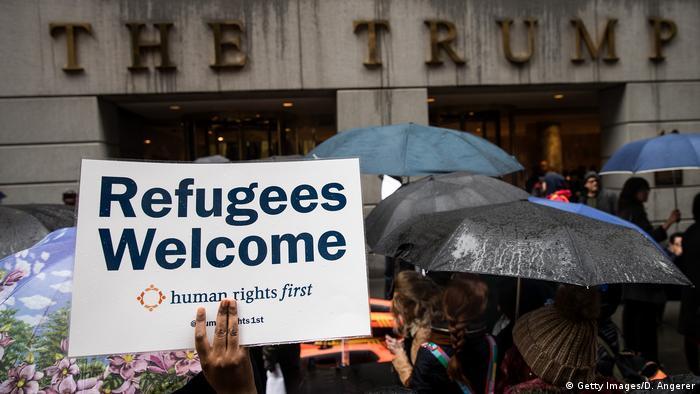 US Einreiseverbot Protest (Getty Images/D. Angerer)