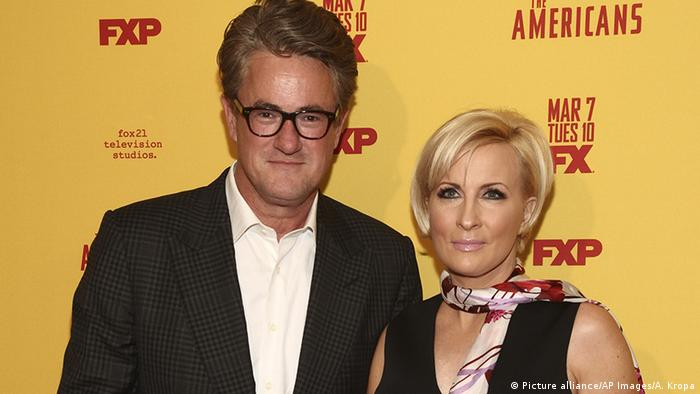 Joe Scarborough und Mika Brzezinski (Picture alliance/AP Images/A. Kropa)