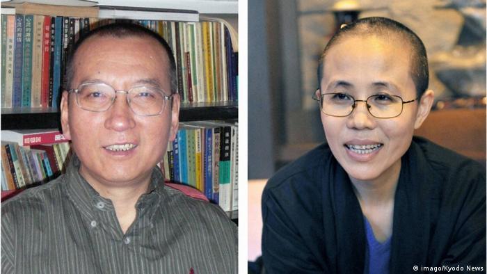 Japan Nobelpreisträger Liu Xiaobo und Frau Liu Xia (imago/Kyodo News)
