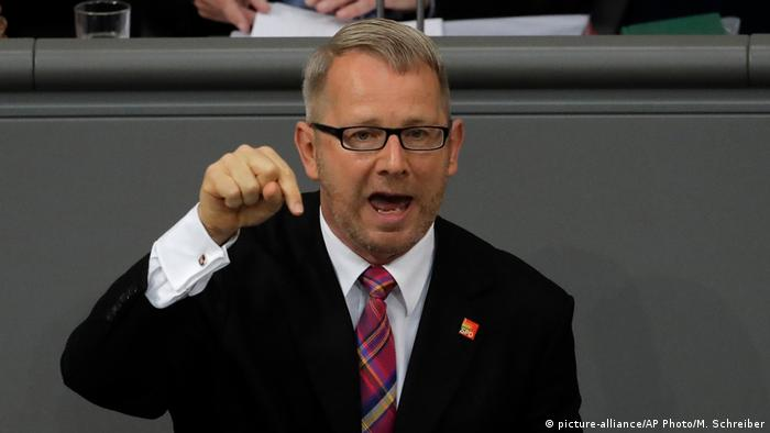 SPD politician Johannes Kahrs speaking in the German parliament