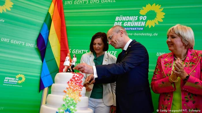 Bundestag gay marriage vote Green party