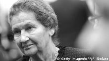 ARCHIV 2010 **** Simone Veil, French lawyer and politician and former President of the European Parliament, is pictured after she was given the Heinrich Heine Prize of the city of Duesseldorf during a ceremony on December 13, 2010 in Duesseldorf, western Germany. The prize, which is awarded every two years, was given to Veil for her political and cultural achievement. AFP PHOTO / PATRIK STOLLARZ (Photo credit should read PATRIK STOLLARZ/AFP/Getty Images)