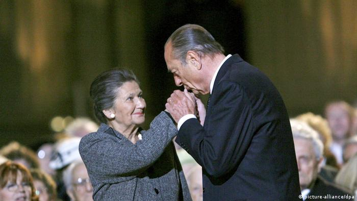 Simone Veil and Jacques Chirac