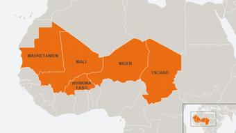 Karte Infografik G5 Sahelzone