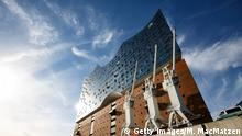 HAMBURG, GERMANY - JUNE 21: The Elbphilharmonie concert hall stands on June 21, 2017 in Hamburg, Germany. Hamburg will host the upcoming G20 summit from July 7-8, with venues to include the Messe trade fair grounds, City Hall and the Elbphilharmonie. City authorities are bracing for large-scale protests that so far include a march of a predicted 100,000 people on July 8. Hamburg has a strong leftist and anarchist subculture. (Photo by Morris MacMatzen/Getty Images)