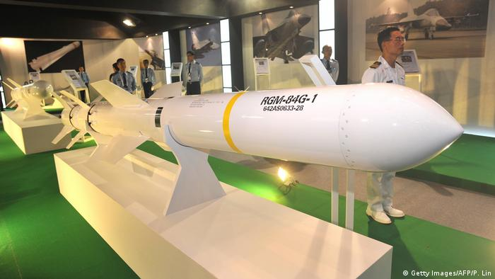 Taiwan US Harpoon Rakete (Getty Images/AFP/P. Lin)