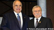 Helmut Kohl (l) und Lech Walesa (r)