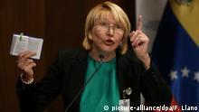 Venezuela Generalstaatsanwältin Luisa Ortega Diaz inCaracas