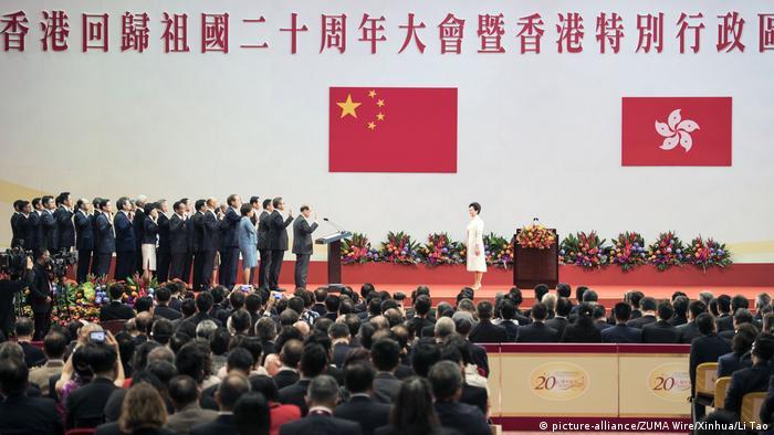 China Vereidigung in Hongkong