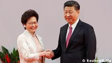China Carrie Lam und Präsident Xi Jinping in Hongkong
