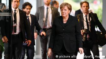 Ангела Меркель на церемонии прощания с Гельмутом Колем