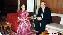 Bundeskanzler Helmut Kohl in Indien 1983 (picture-alliance/dpa)
