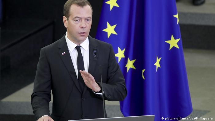 Dmitry Medvedev, Kohl funeral, Strasbourg