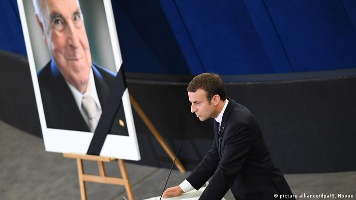 Emmanuel Macron, Kohl funeral, Strasbourg