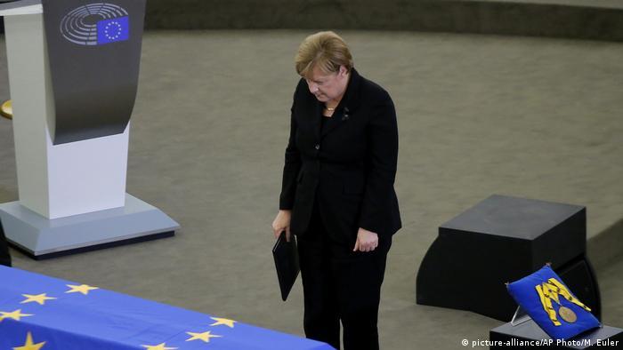 Angela Merkel, Kohl funeral
