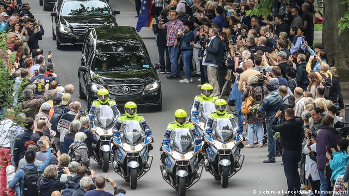 Funeral cortege in Ludwigshafen