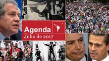 Symbolbild Agenda Julio de 2017 Spanisch