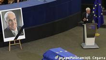Straßburg Gonzalez bei Rede Trauerfeierlichkeiten für Helmut Kohl