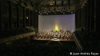 Músicos de la Filarmónica Joven de Colombia en el Rheingau Musik Festival de Wiesbaden.