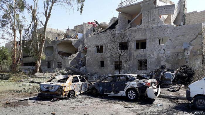 Syrien Anschlag in Damaskus (Reuters/SANA)