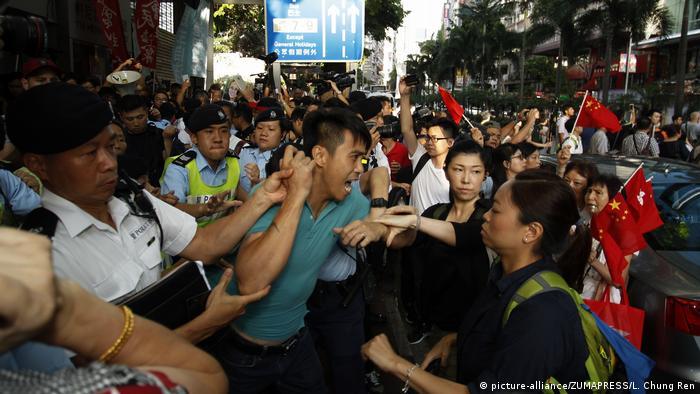 Hong Kong - Proteste (picture-alliance/ZUMAPRESS/L. Chung Ren)