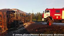Russland schwerer Unfall in Sainsk