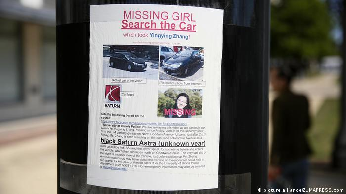 Chinesische Studentin Yingying Zhang vermisst (picture alliance/ZUMAPRESS.com)