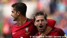 MOSCOW, RUSSIA – JULY 2, 2017: Portugal's Andre Silva (L) and Adrien Silva celebrate scoring against Mexico in their 2017 FIFA Confederations Cup third place football match at Otkrytie Arena. Sergei Savostyanov/TASS PUBLICATIONxINxGERxAUTxONLY TS055C96 MOSCOW Russia – July 2 2017 Portugal's André Silva l and Adrien Silva Celebrate Scoring Against Mexico in their 2017 FIFA Confederations Cup Third Place Football Match AT Otkrytie Arena Sergei Savostyanov TASS PUBLICATIONxINxGERxAUTxONLY TS055C96